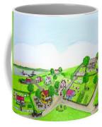 The Village - Colonial Style Art Coffee Mug