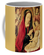 The Virgin And Child Adored By Angels  Coffee Mug