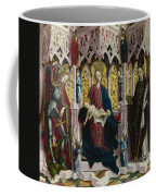 The Virgin And Child Enthroned With Angels And Saints Coffee Mug