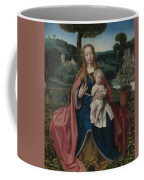 The Virgin And Child In A Landscape Coffee Mug