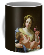 The Virgin And Child With A Rose Coffee Mug