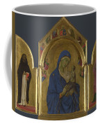 The Virgin And Child With Saints Dominic And Aurea Coffee Mug