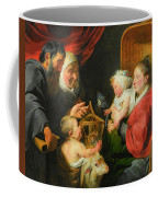 The Virgin And Child With St. John And His Parents Coffee Mug