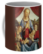 The Virgin And Child With Two Angels Coffee Mug by Andrea del Verrocchio
