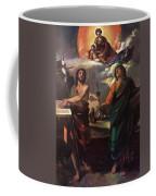 The Virgin Appearing To Saints John The Baptist And John The Evangelist 1520 Coffee Mug