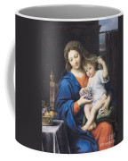 The Virgin Of The Grapes Coffee Mug by Pierre Mignard