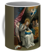 The Virgin Sewing Accompanied By Four Angels. La Couseuse Coffee Mug