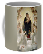 The Virgin With Angels Coffee Mug by William-Adolphe Bouguereau