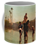 The Way From The Village. Time Of Inundation. Egypt Coffee Mug