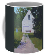 The White Garage - Art By Bill Tomsa Coffee Mug