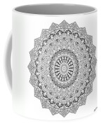 The White Mandala No. 3 Coffee Mug