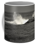The Wild Pacific In Black And White Coffee Mug