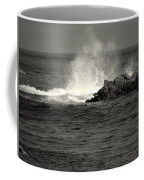 The Wild Pacific In Black And White Two Coffee Mug