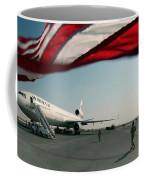 The Wind Blows The U.s. Flag Coffee Mug