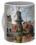 The Windmill Amsterdam Claude Monet 1874 Coffee Mug