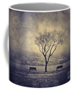 The Winter And The Benches Coffee Mug