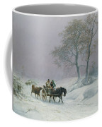 The Wintry Road To Market  Coffee Mug