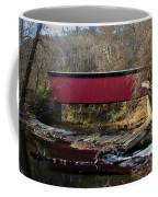 The Wissahickon Creek In Autumn - Thomas Mill Covered Bridge Coffee Mug