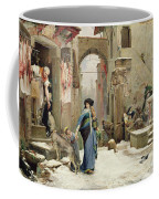 The Wolf Of Gubbio Coffee Mug by Luc Oliver Merson