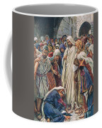 The Woman Who Touched The Hem Of His Garment Coffee Mug