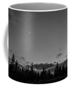 The Woods And The Moon 1 Black And White Coffee Mug
