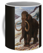 The Woolly Mammoth Is A Close Relative Coffee Mug by Charles R. Knight