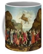 The Worship Of The Egyptian Bull God Apis Coffee Mug