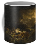 The Wreck Of The H.m.s. Deal Castle Off Puerto Rico During The Great Hurricane Of 1780 Coffee Mug