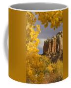 The Yellow Leaves Of Fall Frame A Rock Coffee Mug