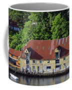 The 1905 Wooden Andreas Odfjell Warehouse On Bergen Harbor Coffee Mug
