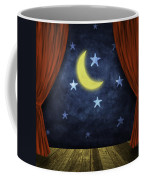 Theater Stage With Red Curtains And Night Background  Coffee Mug by Setsiri Silapasuwanchai