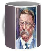 Theodore Roosevelt Watercolor Portrait Coffee Mug