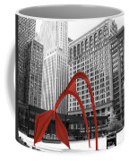 There's A Red Flamingo In Chicago Coffee Mug