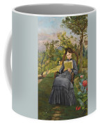 Therese Reading In The Park Of Meric Coffee Mug