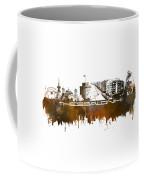 Thessaloniki Skyline City Brown Coffee Mug