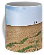 They Are Not At The Top Of This Dune Climb In Sleeping Bear Dunes National Lakeshore-michigan Coffee Mug