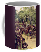 They Talked It Over With Me Sitting On The Horse Coffee Mug by Howard Pyle