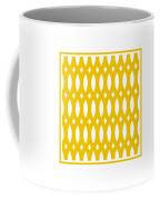 Thick Curved Trellis With Border In Mustard Coffee Mug