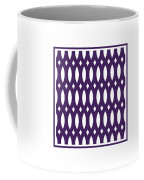 Thick Curved Trellis With Border In Purple Coffee Mug