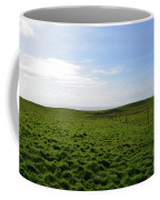 Thick Grass Field Abutting The Cliff's Of Moher In Ireland Coffee Mug
