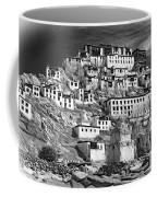 Thiksey Monastery - Paint Bw Coffee Mug