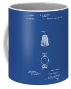 Thimble Patent 1891 In Blue Print Coffee Mug