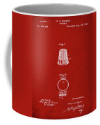 Thimble Patent 1891 In Red Coffee Mug