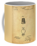 Thimble Patent 1891 In Sepia Coffee Mug