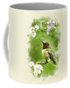 Thinking Of You Hummingbird Flora Fauna Greeting Card Coffee Mug