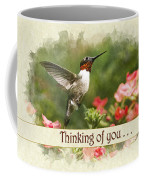 Thinking Of You Hummingbird Garden Jewel Greeting Card Coffee Mug