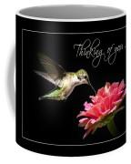Thinking Of You Hummingbird Greeting Card Coffee Mug