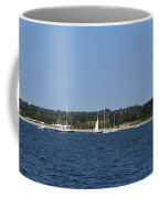 Third Beach Middletown With Boats Coffee Mug