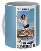 This Summer Sun Valley - Chicago And North Western Line - Retro Travel Poster - Vintage Poster Coffee Mug