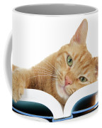 This Tabby Cat Loves Books  Coffee Mug
